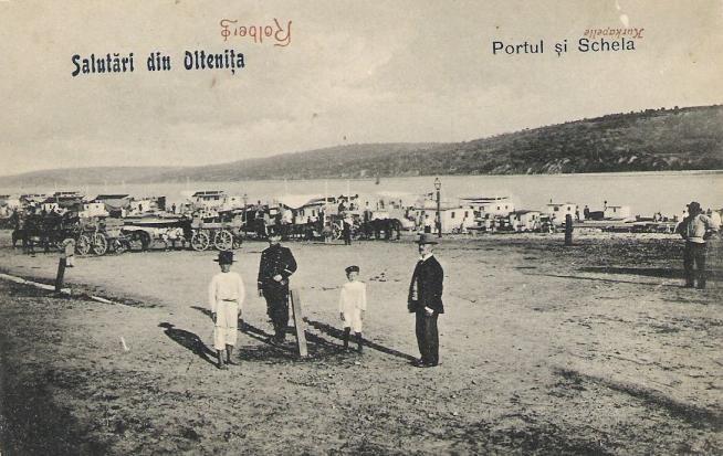 Oltenita - portul - interbelica
