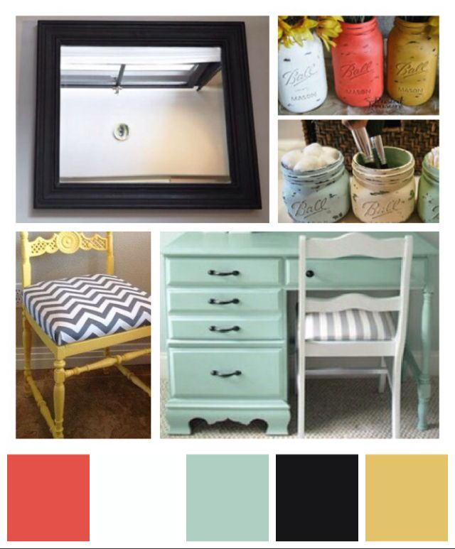 Color scheme...vanity redo project to match Jaipur echo design bedding  Super excited to get started
