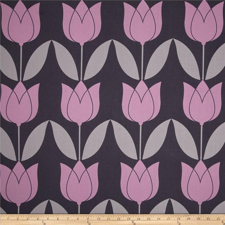 Michael+Miller+Seedling+Tulip+Orchid from @fabricdotcom  Designed+by+Thomas+Paul+for+Michael+Miller,+this+cotton+print+fabric+is+perfect+for+quilting,+apparel+and+home+decor+accents.+Colors+include+shades+of+purple+and+grey.+