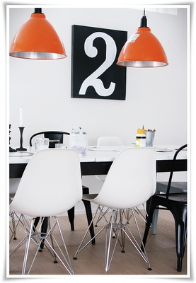 black on white would be better for my colored walls... number on canvas