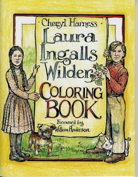Laura Ingalls Wilder Coloring Book... I think I must have this!! @Deban Becker