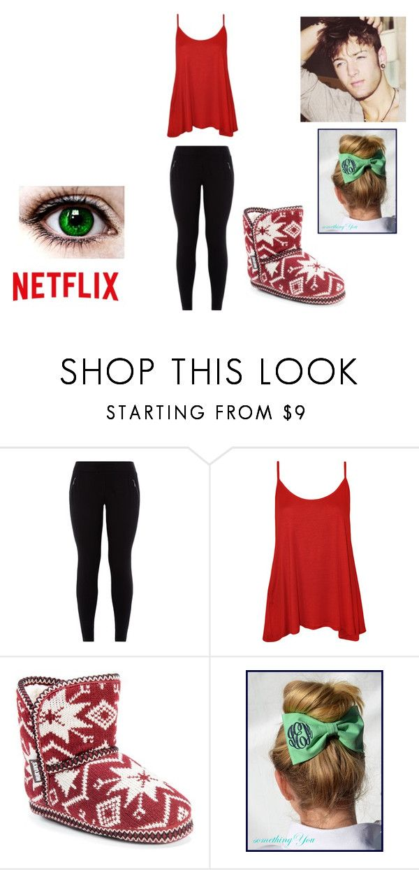 """Netflix day with Drew Chadwick"" by bruhitzally ❤ liked on Polyvore featuring New Look, WearAll and Muk Luks"