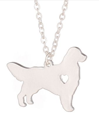 Silver Charm Golden Retriever Necklace – PawzOutlet