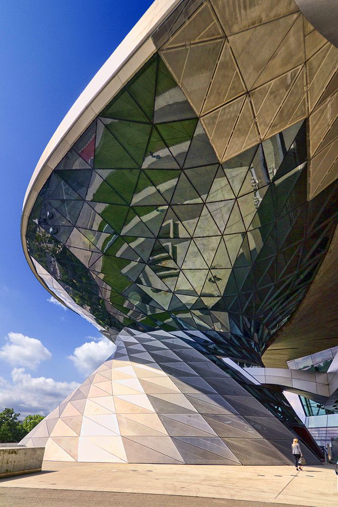BMW Welt is a multi-functional customer experience and exhibition facility of the BMW AG, located in Munich, Germany; architect Coop Himmelb(l)au, 2007;  photo Wojtek Gurak