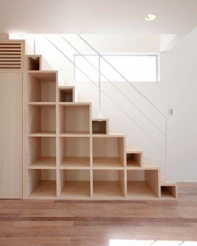 鉄骨階段 階段の施工例 ローコストデザイン住宅の住人10色 Stairs Pinterest