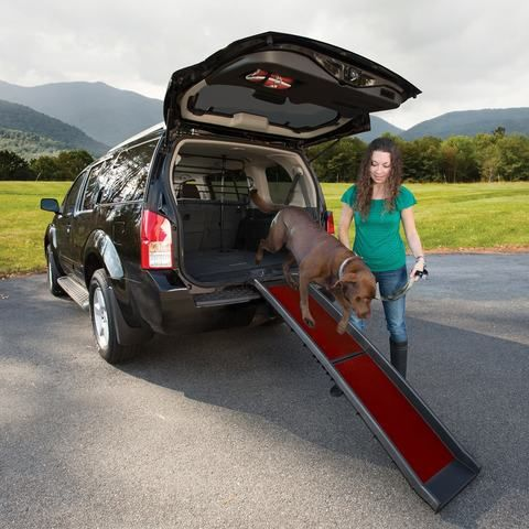 The Wander Dog Ramp is an easy way to help your old or disabled dog into and out of the car.