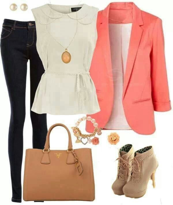 17 Best images about Peach Blazers on Pinterest | Coral blazer ...