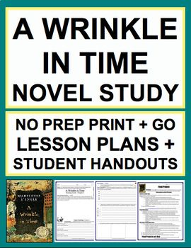 "A Wrinkle in Time Chapter Questions and Chapter Vocabulary NO PREP Novel Study: Lessons & Student Packet: 24 easy-to-follow student handouts and lessons to read 12 chapters of A Wrinkle in Time. EVERY DAY OF THE PACKET INCLUDES: CCSS-aligned focus; Before-reading ""Do Now"" question; During-reading vocabulary words; During & After-reading response questions: CCSS-aligned #awrinkleintimenovelstudy"