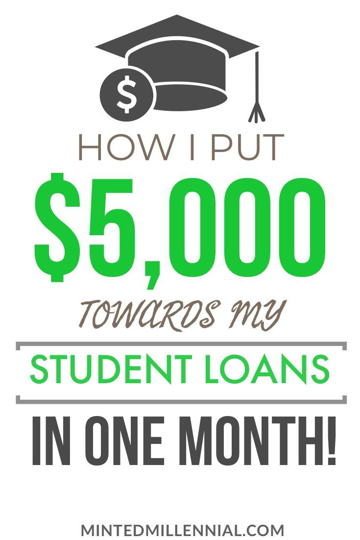How i put 5000 towards my student loans in one month in
