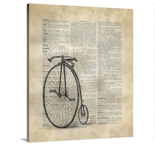 Bike Shops Near Me 55127 Vintage Bicycle Canvas Wall