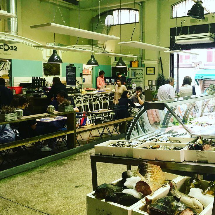 Bologna Banco32 Fresh fish from the market. Mercato delle erbe. Food market place