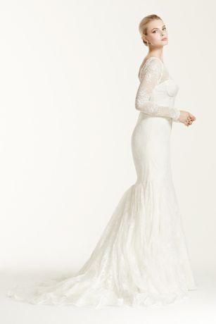 Truly Zac Posen Lace Long Sleeve Wedding Dress Style ZP341506