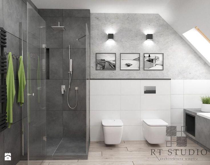 Łazienka na poddaszu - Łazienka, styl industrialny - zdjęcie od RT Studio