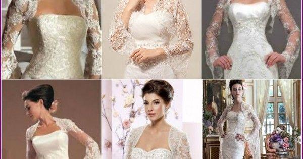 Свадебное болеро с длинным рукавом - популярные модели для невест с фото