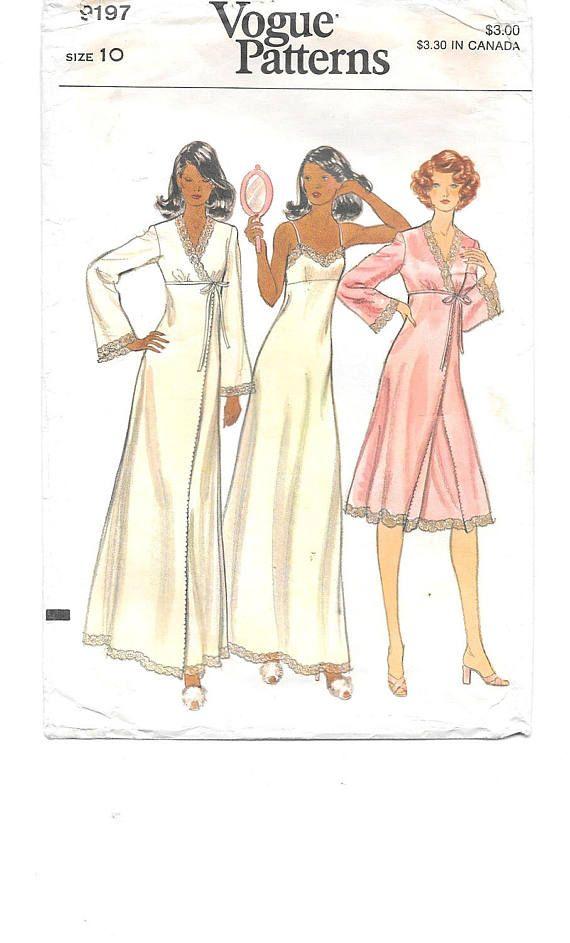 1970er Jahre Dessous ~ Kleid und Mantel ~ Vintage Schnittmuster ~ Größe 10 ~ Empire-Taille eng anliegend ausgestellte Kleid ~ Mitte Knie oder Knöchel Länge ~ Boho