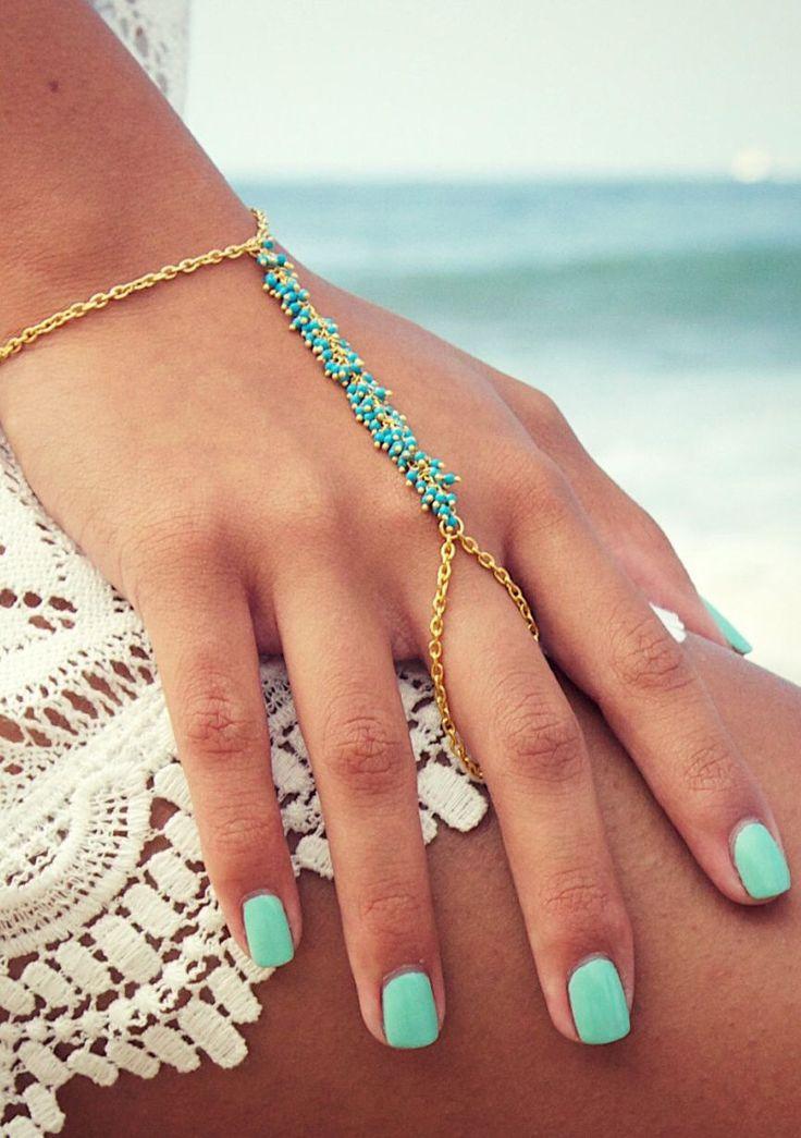 22 best Latest Finger Ring Bracelet Collection images on Pinterest ...