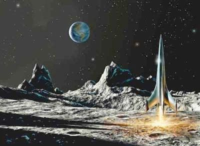 261 best images about vintage space art on pinterest for Retro outer space