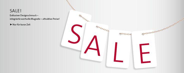 SALE!  Exklusiver Designschmuck – integrierte wertvolle Magnete – attraktive Preise! Nur für kurze Zeit.