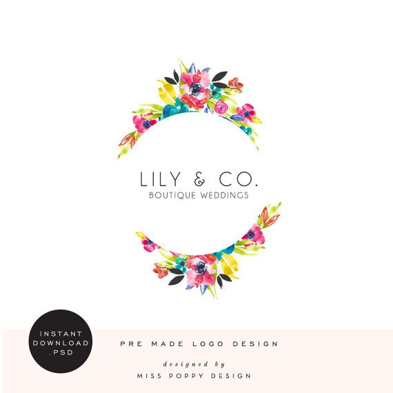Lily & Co. INSTANT DOWNLOAD Pre Designed Logo by Miss Poppy Design