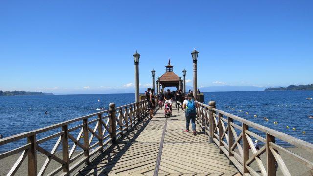 Muelle del Lago Llanquihué, Frutillar. Chile