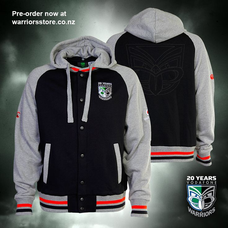2015 Vodafone Warriors hooded jacket #WarriorsForever #jacket #2015 #Warriors #merchandise