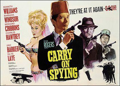 Carry On Spying (1964) GB Kenneth Williams, Barbara Windsor, Bernard Cribbins, Charles Hawtrey, Eric Barker 2/01/03