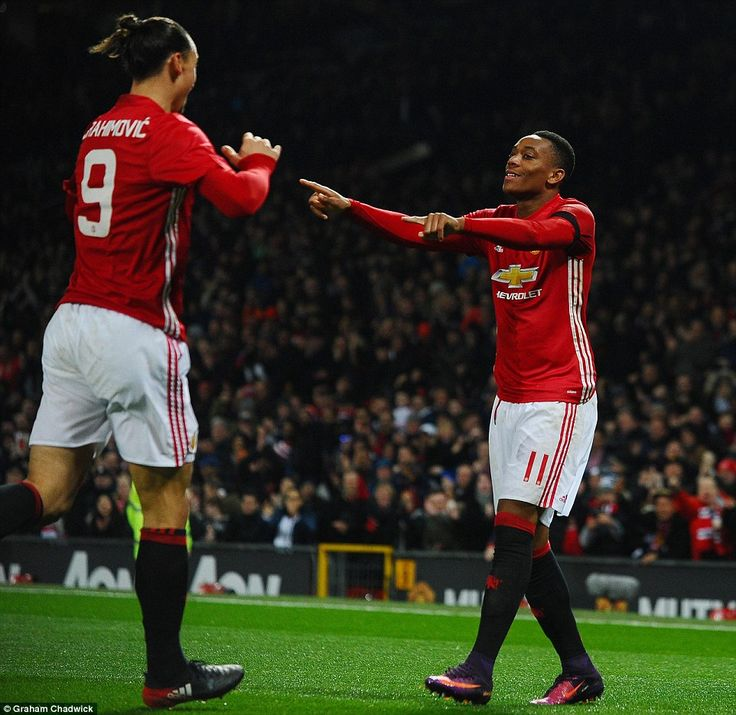 Zlatan Ibrahimovic and Martial were Manchester United's goalscorers on Wednesday night in the EFL Cup