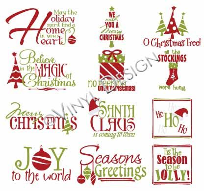 Vinyl Ready Designs - Christmas pkg