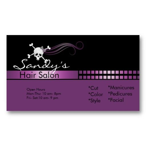 17 best images about hair salon business cards on - Beauty salon business ...