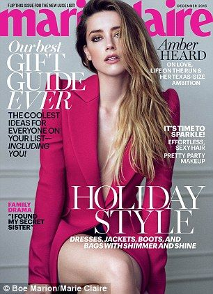 Cover girl: The actress appears in the magazine's December issue