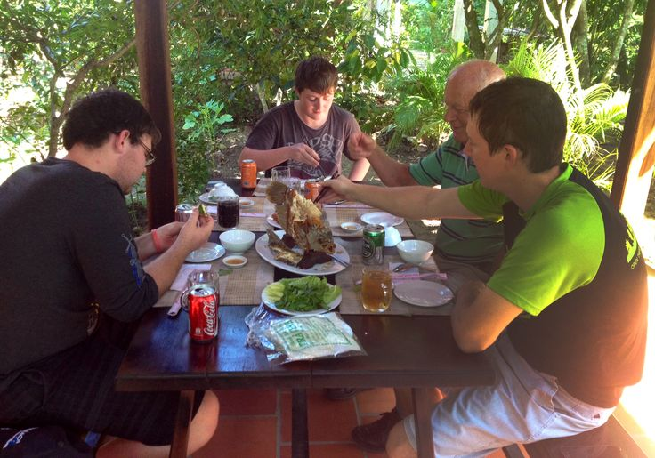 Burger free zone! #VietnamSchoolTours #Mekong #EatFresh