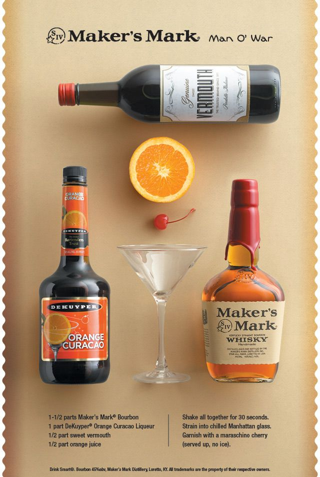 The Man O War is not just a Derby horse, it's also a delicious bourbon drink with orange notes!