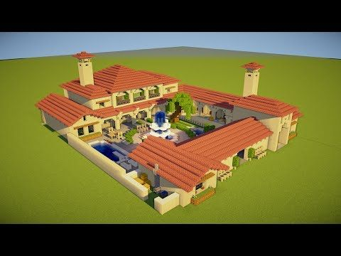 Minecraft: How to Build an Italian Villa - Tutorial - YouTube