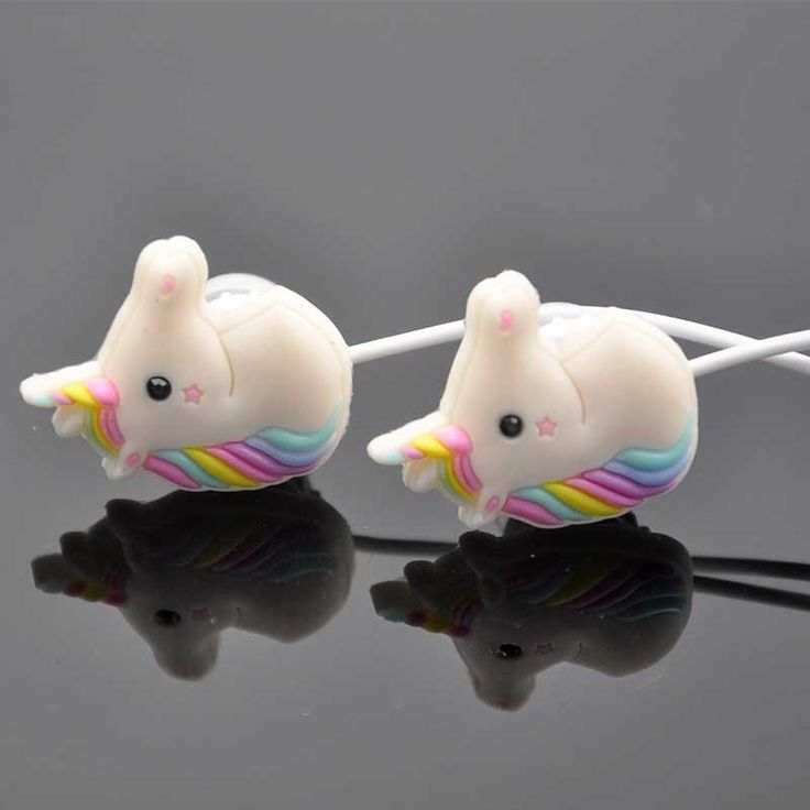 Drop Ship Special Unicorns Rainbow Horse Cartoon Earphone Mini Wired Cute Girl In Ear Earphone With Microphone  For Phone