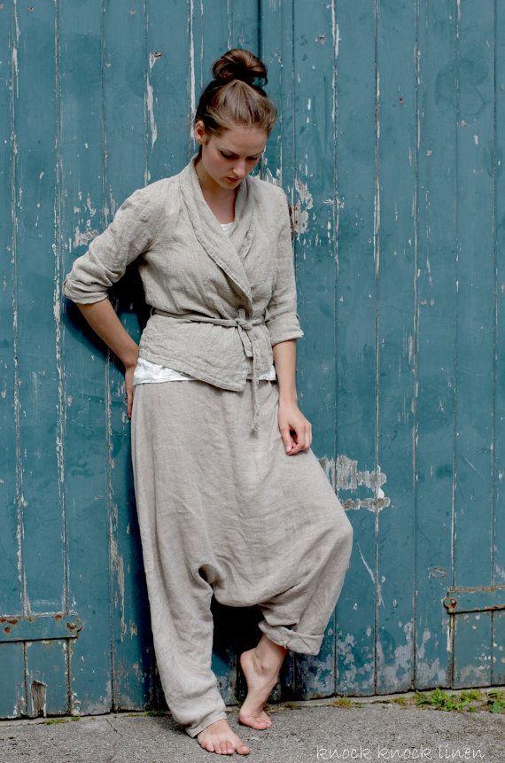 Natural Linen Jacket by KnockKnockLinen on Etsy, £110.00