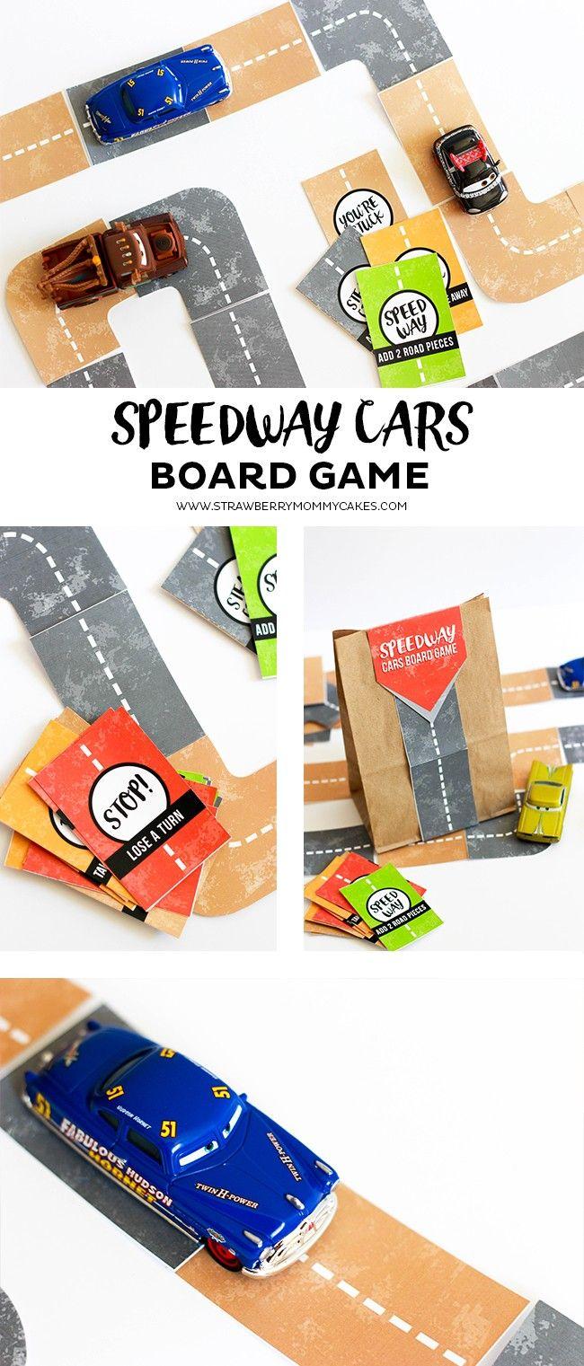speedway cars board game disney activitiesshel