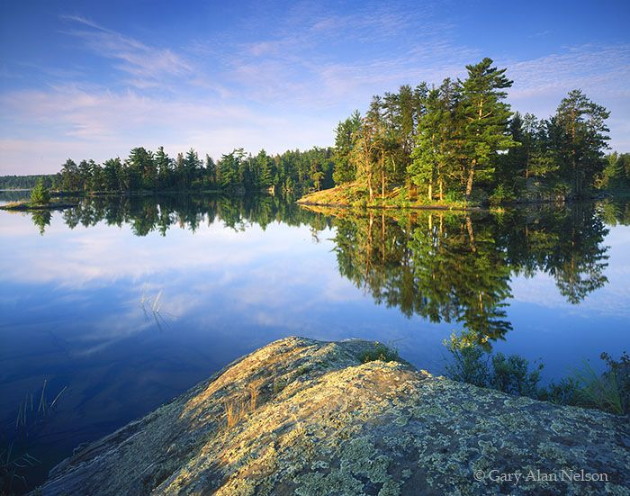 Calm Morning on Rainy Lake  Voyageurs National Park, Minnesota by Gary Alan Nelson