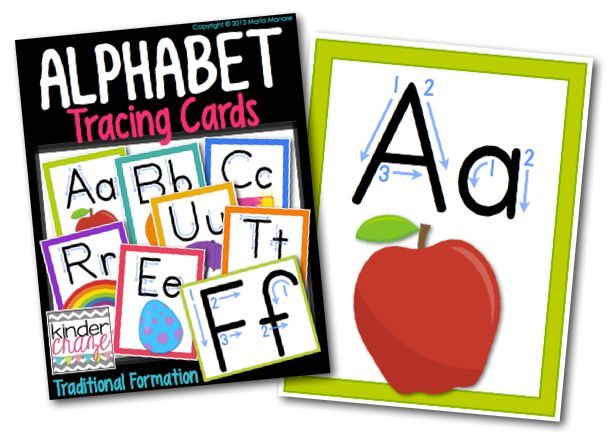 Alphabet Tracing Cards... Simple and SO Effective
