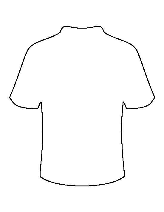 Football jersey pattern. Use the printable outline for crafts, creating stencils, scrapbooking, and more. Free PDF template to download and print at http://patternuniverse.com/download/football-jersey-pattern/
