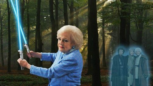 Betty White, master of the force.
