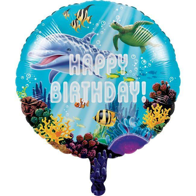 Ocean Party Happy Birthday Foil Balloon Ocean Party Decorations