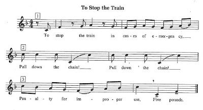To Stop the Train Check out the 2 videos of how to teach the round and students performing the round with movements.