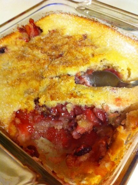 This Strawberry Cobbler is not only delicious, but it's super simple to make! Stop by for the recipe!