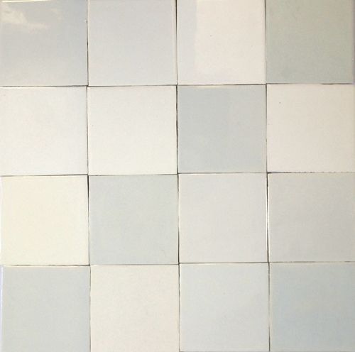 Friese ratjetoe witjes Dutch or Friesian white tiles--intential variations in tones of white; traditional from 16th century through 19th