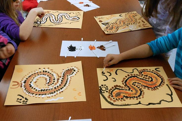 Kasebergs Kreations: First Grade: Aboriginal Dream Paintings