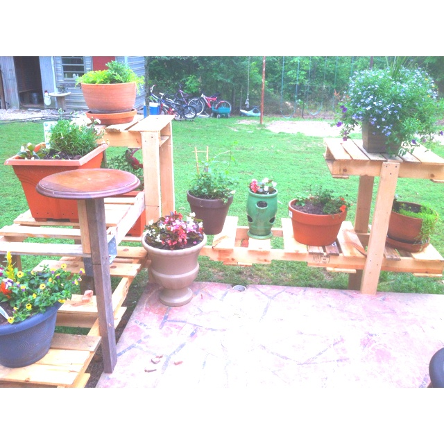 10 best patio plant shelves and pots images on pinterest. Black Bedroom Furniture Sets. Home Design Ideas