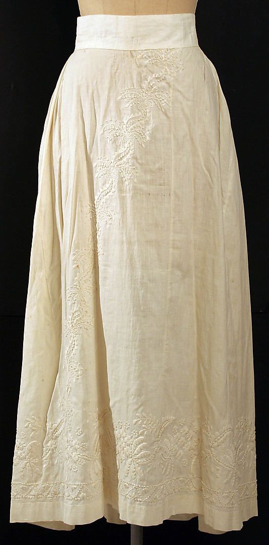 early 19th century cotton petticoat, American - in the Metropolitan Museum of Art costume collections.