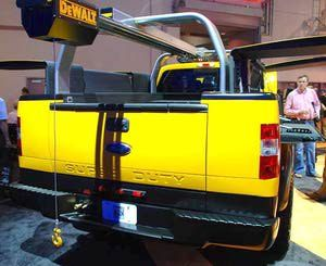 Ford Pickup Trucks: 2011 Ford Super Duty DeWALT Contractor Concept Truck - Rear