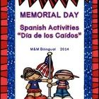 Memorial Day Unit on Día de los Caídos! 15 pages ready to print and go. Perfect for Bilingual/Dual Language classrooms!  What's Included:  *10 word...