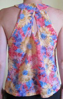 EL BAÚL DE LAS COSTURERAS: Blusa Halter, hombros descubierto y cuello tipo anillo